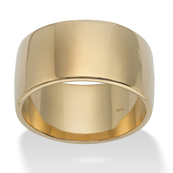 PalmBeach Wedding Band in 18k Gold Over .925 Sterling Silver Tailored