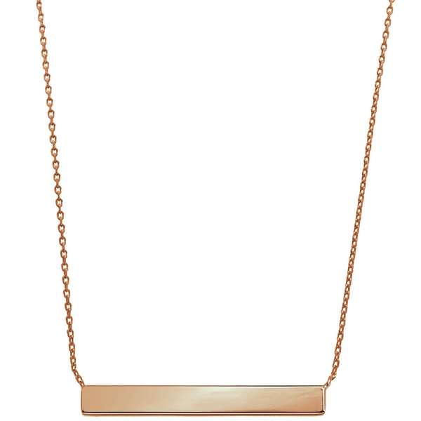 Eternally Haute 14k Rose Goldplated Minimalist Bar Necklace