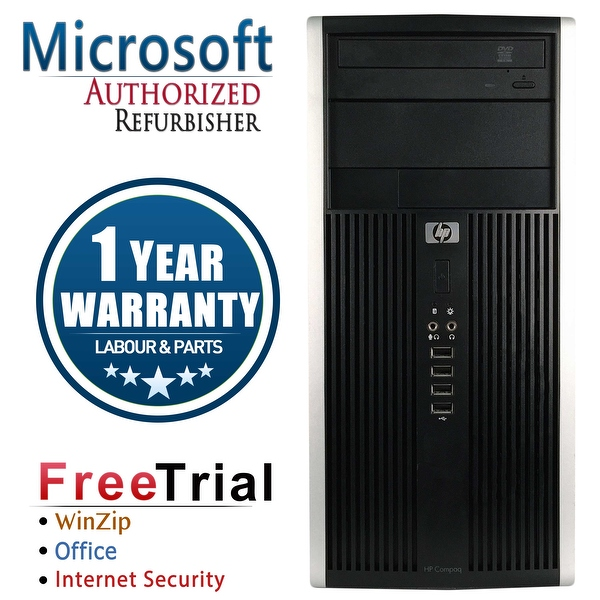 Refurbished HP Compaq 6000 Pro Tower Intel Core 2 Quad Q6600 2.4G 16G DDR3 2TB DVDRW Win 7 Pro 64 Bits 1 Year Warranty - Black