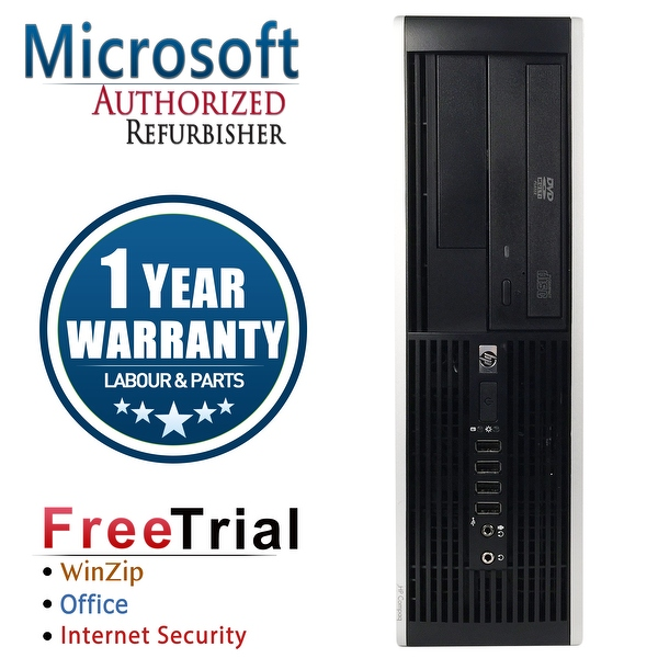 Refurbished HP Compaq 8200 Elite SFF Intel Core I7 2600 3.4G 4G DDR3 320G DVDRW Win 7 Pro 64 1 Year Warranty - Black