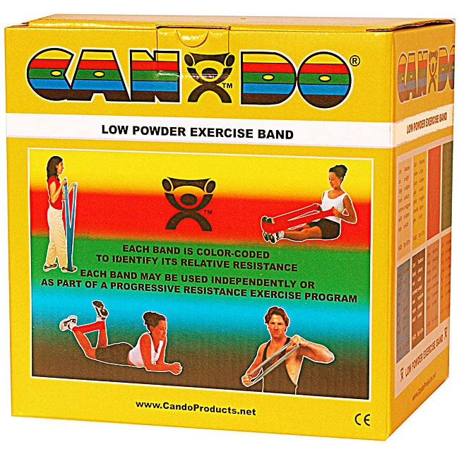 Cando Low-powder 50-yard Gold XXX-heavy Exercise Band