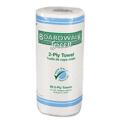 Boardwalk Green Household 2-ply Roll Towels (Case of 30 Rolls)