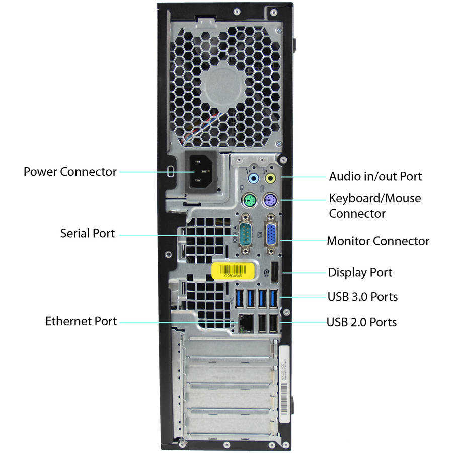 Refurbished HP 8300-SFF Desktop PC with Intel Core i7-2600 Processor, 8GB Memory, 500GB Hard Drive and Windows 10 Pro (Monitor Not Included)