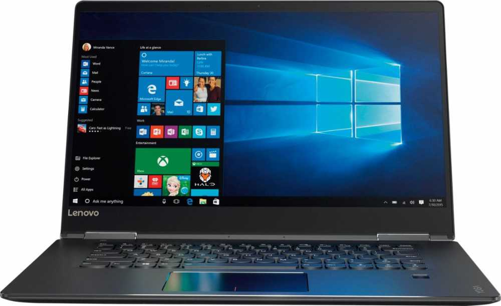 Lenovo - Yoga 710 2-in-1 15.6' Touch-Screen Laptop - Intel Core i5 - 8GB Memory - 256GB Solid State Drive - Black Tablet PC Notebook Computer 80V50010US