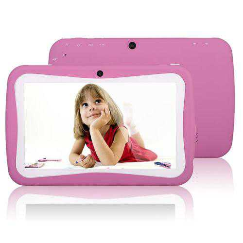 KIDS Tablet Wopad Android 4.4 Rock Chip 3126 Quad Core 8GB Multi-Touch Screen - Pink
