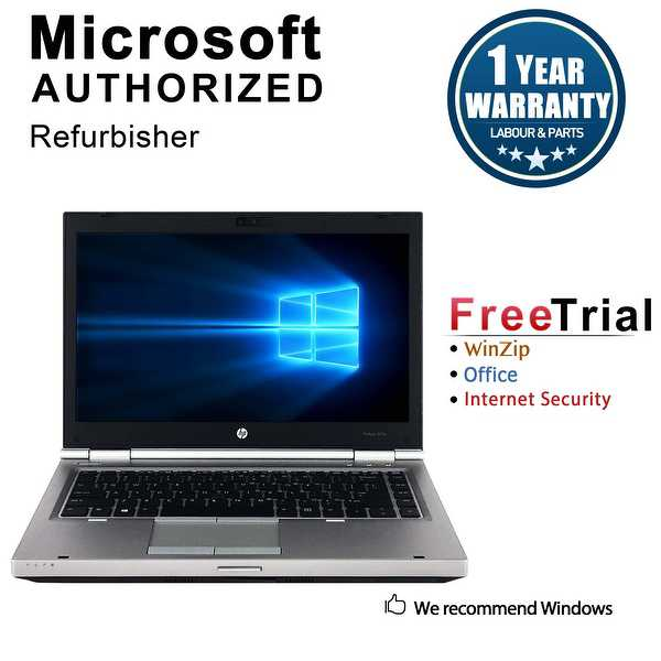 Refurbished HP EliteBook 8470P 14.0' Intel Core i7-3520M 2.90GHz 8GB DDR3 1 TB DVD Windows 10 Pro 64 Bits 1 Year Warranty