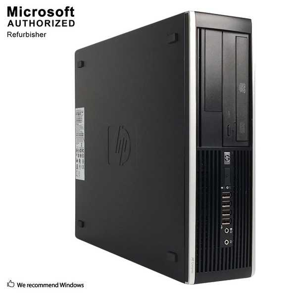 HP 8200 SFF, Intel i5-2400 3.1GHz, 8GB DDR3, 120GB SSD+500GB HDD, DVD, WIFI, HDMI, VGA, Display Port, BT 4.0, W10P64(EN/ES)